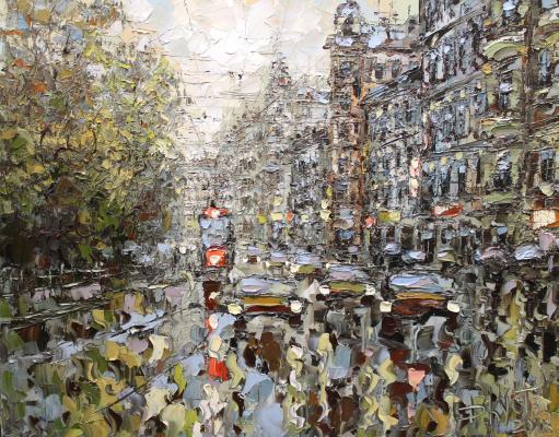 Dmitry Alexandrovich Kustanovich. Petersburg street