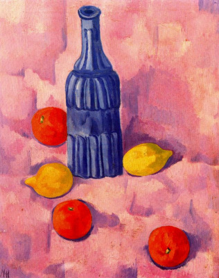 Marsden Hartley. Still life with a bottle