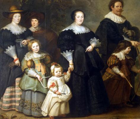 Корнелис де Вос. Автопортрет художника с женой Сюзанной и детьми
