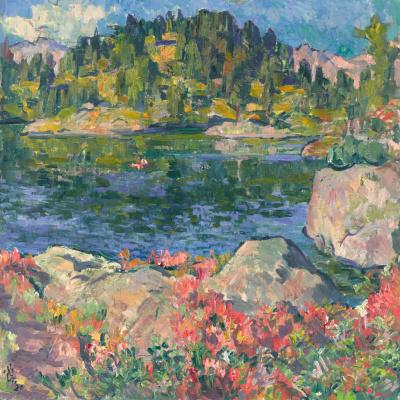 Giovanni Giacometti. Lake Kavlock, Switzerland