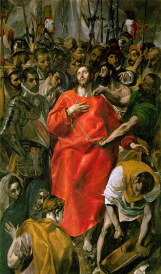 Domenico Theotokopoulos (El Greco). Removing clothes with Christ