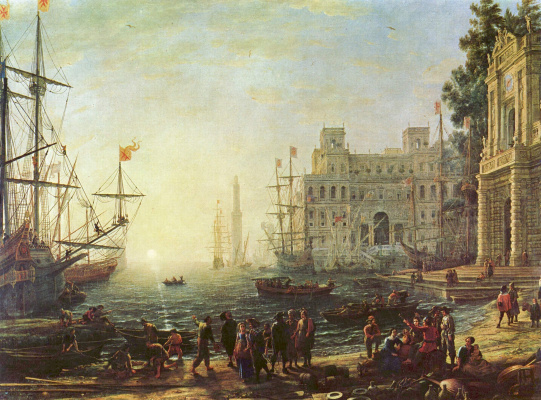 Claude Lorrain. Harbour with Villa Medici