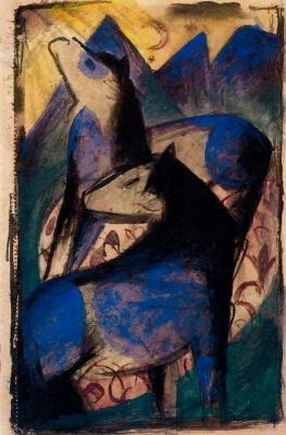 Франц Марк. Две синие лошади