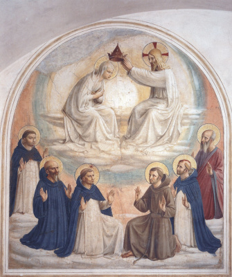 Fra Beato Angelico. Coronation of the Virgin Mary. 1440-1442
