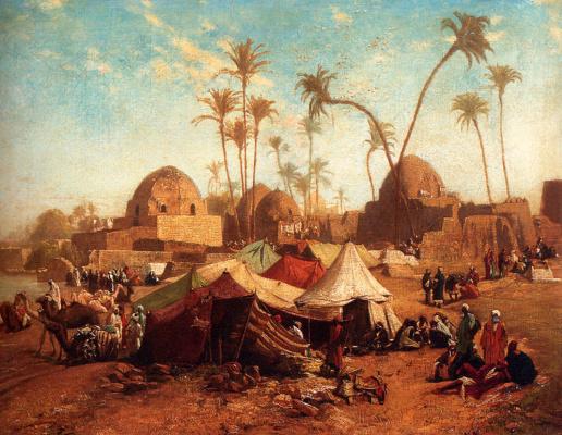 Orazio Gentileski. Bedouin camp