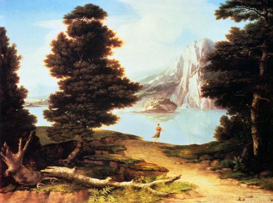 Washington Alston. Landscape with a lake