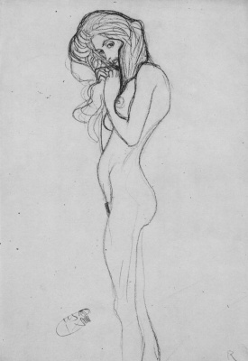 """The naked girl. Sketch for """"Beethoven Frieze. Three Gorgon"""""""