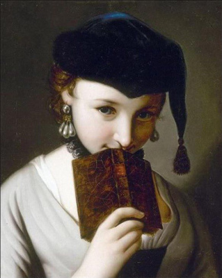 Пьетро Ротари. A girl with a book