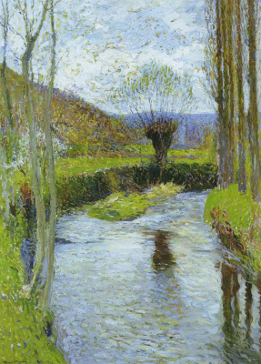 Henri Marten. River in spring