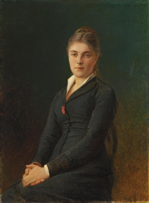 Nikolai Nikolaevich Ge. Portrait of artist's sister-in-law Katherine GE