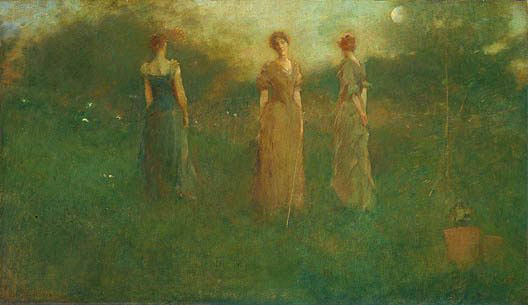 Thomas Wilmer Dewing. Beautiful ladies