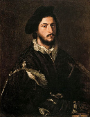 Titian Vecelli. Portrait Of Vicenzo Bridge (Portrait Of Tommaso Bridges)