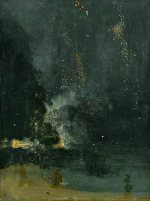 James Abbot McNeill Whistler. Nocturne in black and gold. The falling rocket