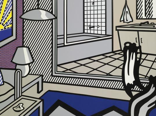 Рой Лихтенштейн. Интерьер с изображением ванной комнаты