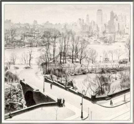 Чарлз Шилер. Вид на Центральный парк в Нью-Йорке
