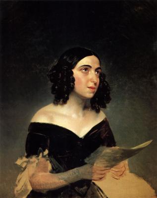 Portrait of singer A. Y. Petrova