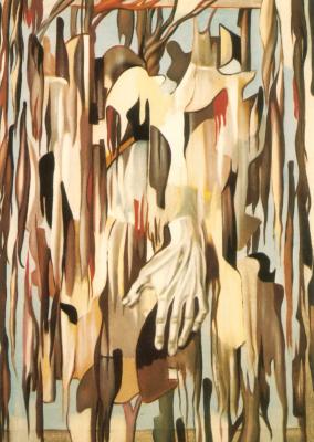 Tamara Lempicka. Surreal hands