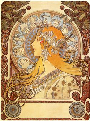 Alphonse Mucha. Zodiac