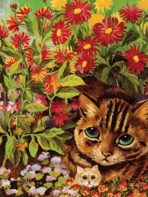 Louis Wain. Flower cats