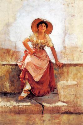 Фрэнк Дувенек. Девушка в шляпе