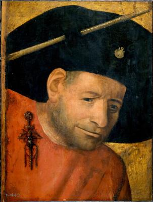 Hieronymus Bosch. Head of a halberdier