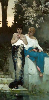 Wilhelm Kotarbinsky. Two Roman women