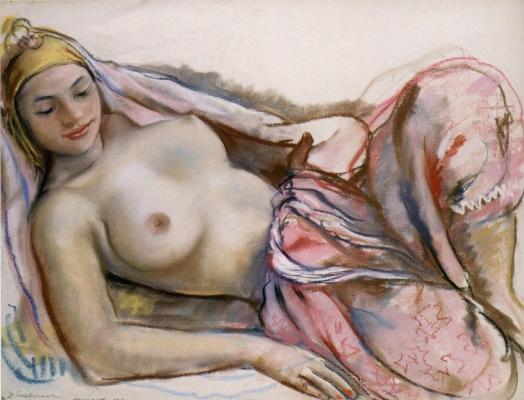 Zinaida Serebryakova. Nude Moroccan pink