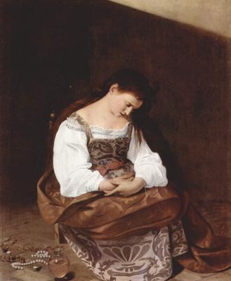 Michelangelo Merisi de Caravaggio. Penitent Mary Magdalene