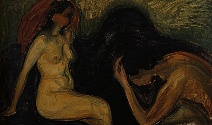 Edvard Munch. A man and a woman