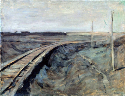 Isaac Levitan. The railroad