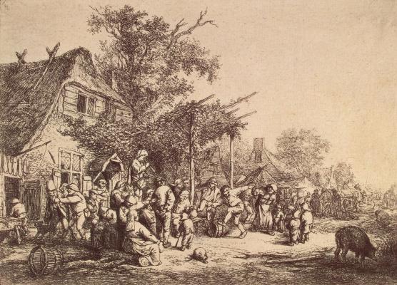 Adrian Jans van Ostade. Village fete