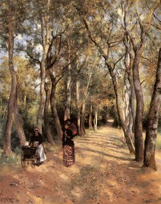 Йохан Эриксон. Дорога в лесу