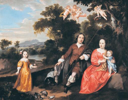 Ян Давидс Мейтенс. Семейный портрет