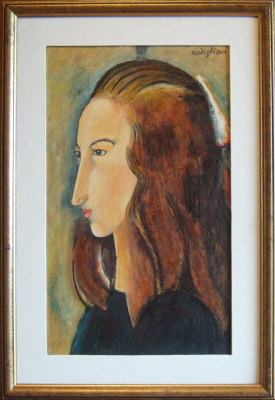 Андрей Харланов. Copy: Modigliani - Head of Jeanne Hébuterne in profile