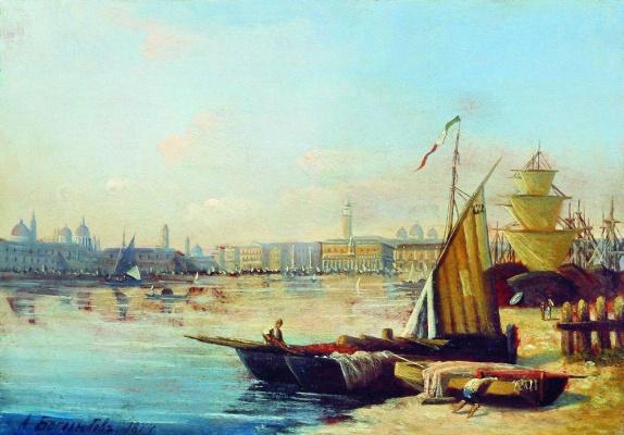 Алексей Петрович Боголюбов. Морской вид. 1874