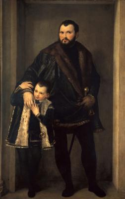 Паоло Веронезе. Портрет графа Исеппо да Порто с сыном Адрианом