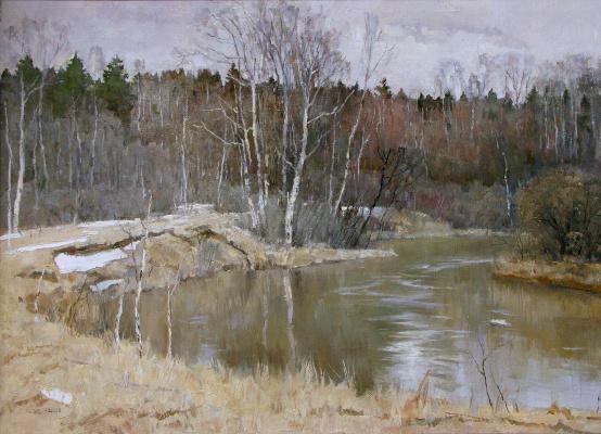 Boris Petrovich Zakharov. Spring on the river Thief.