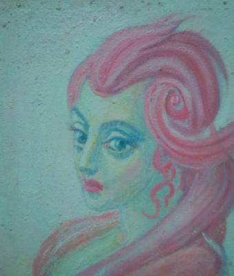 Вячеслав Коренев. Lady with a pink hairstyle