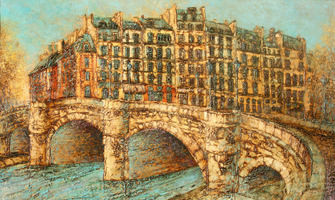Vadim Viktorovich Maslennikov. Paris. The Bridge Pont Neuf,