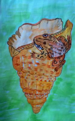 Irina Alexandrovna Sokolova. Frog on shell