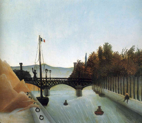 Henri Rousseau. Footbridge at Passy