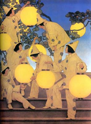 Maxfield Parrish. Lanterns