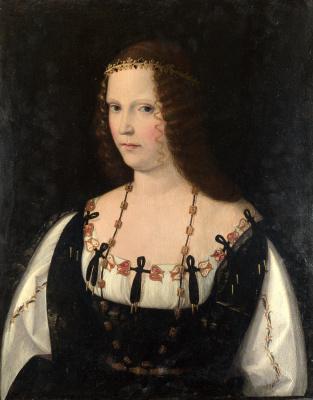 Veneto Bartolomeo. Portrait of a young lady
