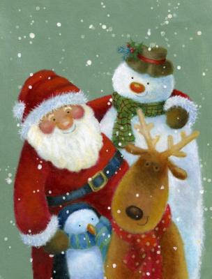Jen Pashley. Santa buddies