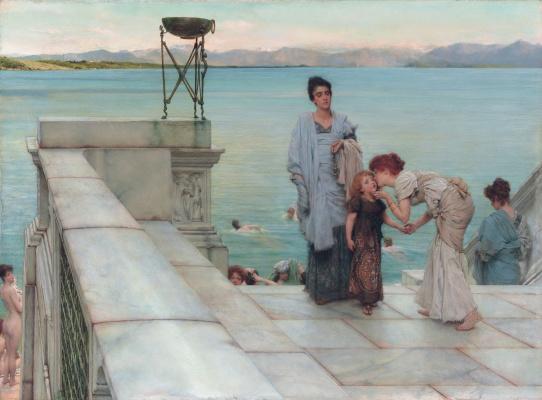 Alma-Tadema Lawrence. A Kiss
