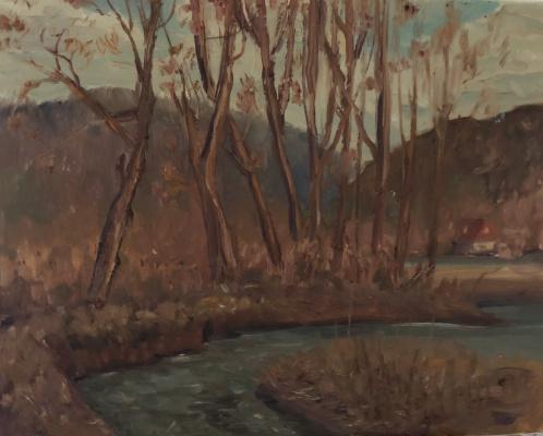 Victoria Marshakova. At the mountain river. Thaw.