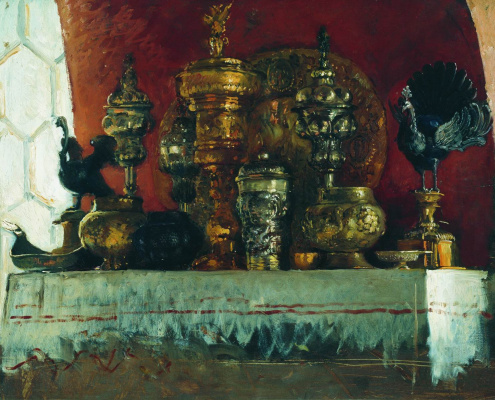 "Konstantin Makovsky. Cups. Study for the painting ""a boyar wedding feast in the XVII century"""