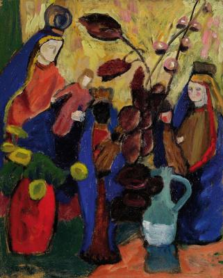 Gabriele Münter. Still Life with Three Madonnas