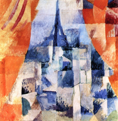 Robert Delaunay. Window with Orange Curtains