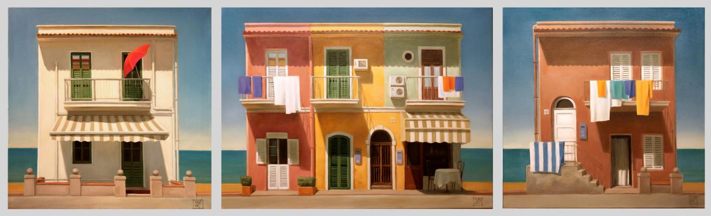 Irina Bogdanova. The Sicilian waterfront (triptych)